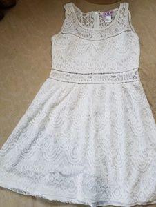 Trixxi white lace sun dress